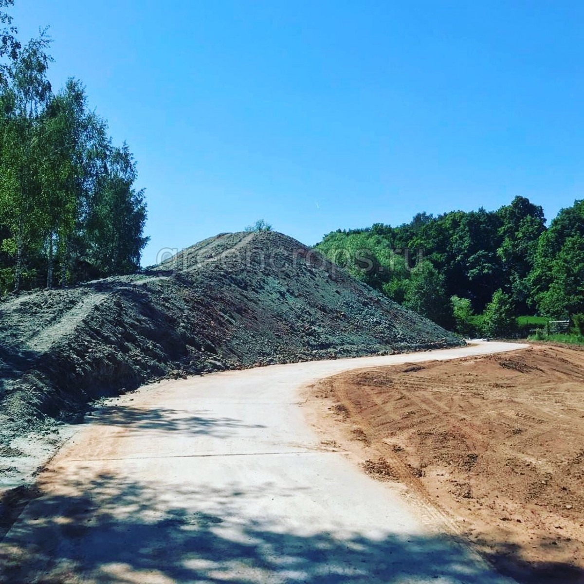 Укрепление откоса гидропосевом газона